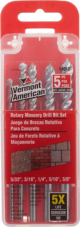 Vermont American 14012 depot 5 Piece Masonry Bit Drill Set San Diego Mall