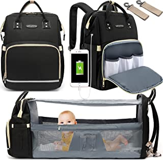 Diaper Bag Backpack, WOWTINA Baby Bag with Changing Station, Travel Backpack Diaper Bags for Baby Boy Girl, Waterproof Lar...