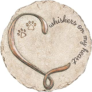 New Creative Commemorative, Indoor/Outdoor, Whiskers on My Heart Memorial Garden Stone