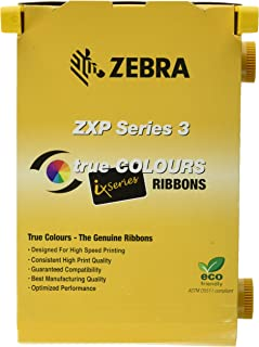 Zebra 2pack-800033-340 True Colours iSeries High-capacity YMCKO Color Ribbon for ZXP Series 3 Card Printers. Replaces Zebra 800033-340. 560 Total Prints.