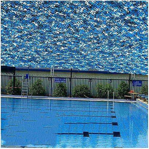 Océan Bleu Camouflage Filet Auvent Pare-soleil Oxford Toile De Prougeection Solaire Toile, Décoration De Fête En Plein Air Pour Enfants Photographie Armée Chasse Cachée ( Taille   55M(16.416.4ft) )
