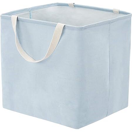 Amazon Basics Panier de rangement en tissu Grand cube Bleu poudré