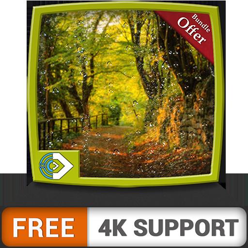 terra verde piovosa gratuita HD - goditi gli splendidi scenari sulla tua TV HDR 4K, TV 8K e dispositivi di fuoco come sfondo, decorazione per le vacanze di Natale, tema per la mediazione e la pace