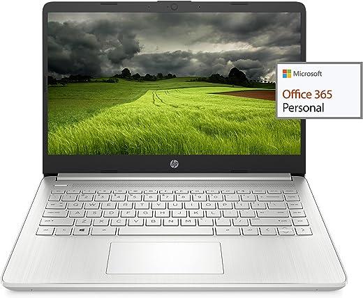 """2021 Newest HP 14"""" HD Laptop Light-Weight, AMD Athlon 3050U(Up to 3.2GHz), 8GB RAM, 256GB SSD + 64GB eMMC, 1 Year Office 365, WiFi, Bluetooth 5, USB-A&C, HDMI, Webcam, Win10, w/Ghost Manta Accessories"""