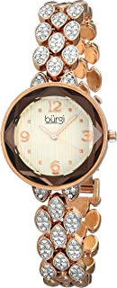Burgi Women's Classic Analogue Display Japanese Quartz Watch with Alloy Bracelet