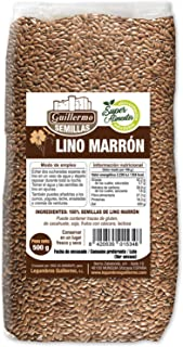 Guillermo Semillas de Lino Marrón Superalimento Linaza 100% Natural 500gr