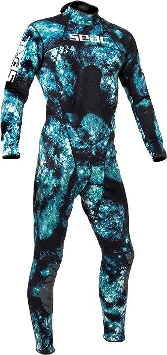 Muta sub seac body fit camo, muta monopezzo per pesca sub in apnea, 1.5 mm 0126/02