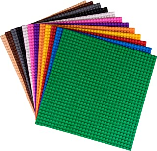 """Strictly Briks Classic Baseplates 10"""" x 10"""" Building Brick Base Plates 12 Pack 100% Compatible with All Major Brands 