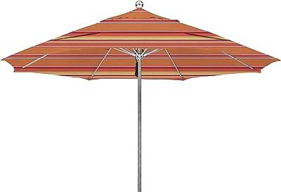 California Umbrella LUXY118-56000-DWV Stainless Steel Market Fiberglass Ribs, Dolce Mango Umbrella, 11' Round