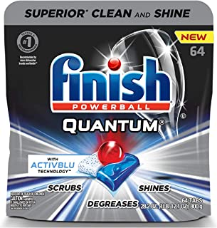 Finish - Quantum with Activblu technology - 64ct - Dishwasher Detergent - Powerball - Ultimate Clean and Shine - Dishwashi...
