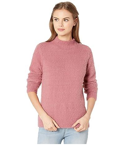 kensie Faux Fur Yarn Mock Neck Sweater KS0K5965 (Vintage Rose) Women