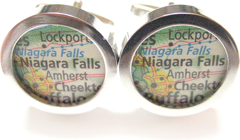 Niagara Falls Map Cufflinks