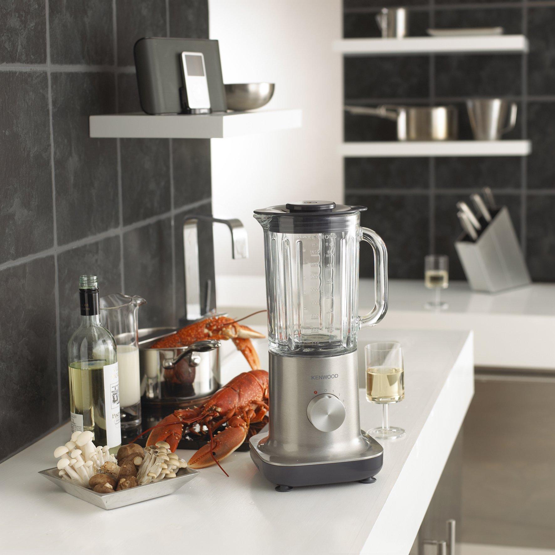 Kenwood BL710 - Batidora de vaso, acero inoxidable, vaso de cristal, 750 W, 2 litros, 5 velocidades + turbo: Amazon.es: Hogar