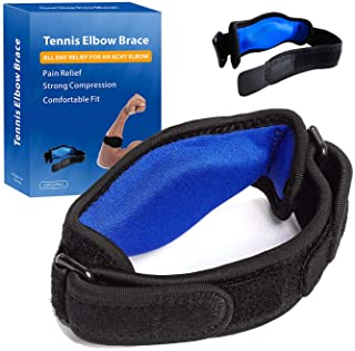 تنیس آرنج بریس برای تاندونیت آرنج (2 PCS) با پد فشرده سازی ، جلوگیری از ماهیگیری ، تسکین درد آرنج ، شامل دو بریس پشتیبانی قابل تنظیم آرنج است