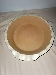 The Pampered Chef New Traditions Deep Dish Pie Plate - Vanilla