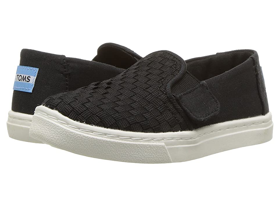 TOMS Kids Luca (Infant/Toddler/Little Kid) (Black Basket Weave) Kid