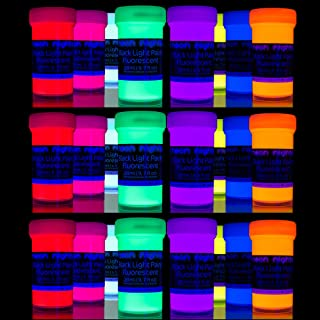 'XXL Set' 24 Cans of Black Light Paints by neon nights | UV Fluorescent Wall Paint