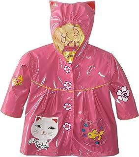 Kidorable Girls' Little Lucky Cat All Weather Waterproof Coat