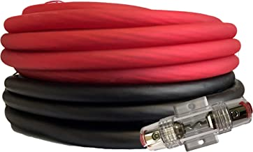 SoundBox Connected 4 Gauge Red / Black Amplifier Amp Power/Ground Wire Set 50 Feet SuperFlex Cable 25 Each, AGU Fuse Holder