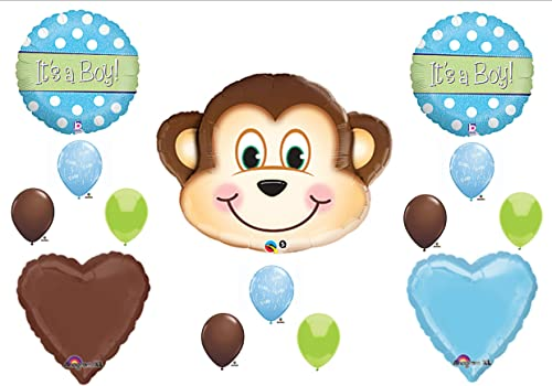 calidad oficial 1 X It's a Boy Monkey Monkey Monkey BABY Shower Balloons Decorations Supplies Jungle Safari by Anagram  artículos novedosos