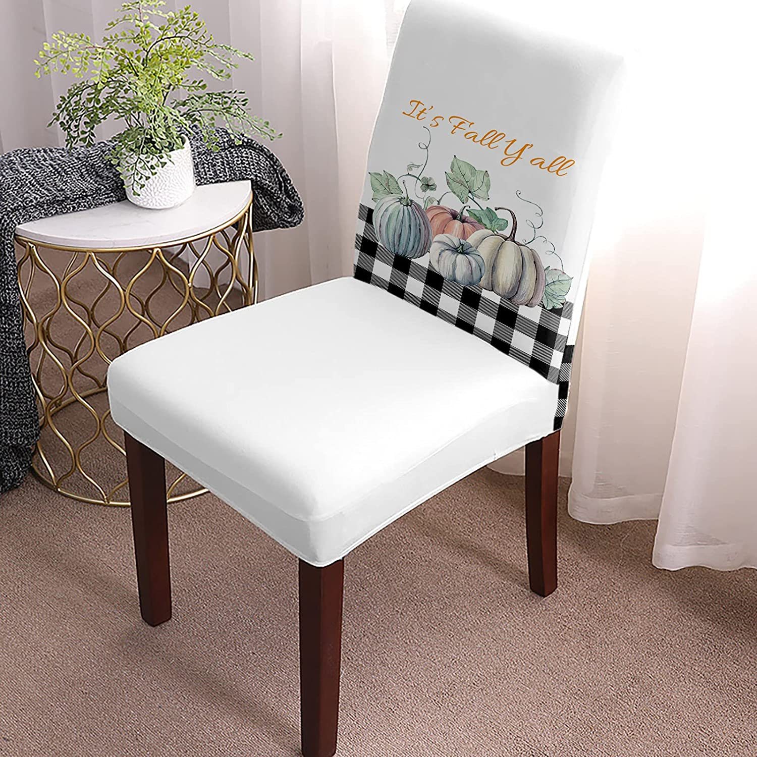 Dining Chair Covers Stretch Slipcovers Translated Autumn Thanks Protectors Max 87% OFF