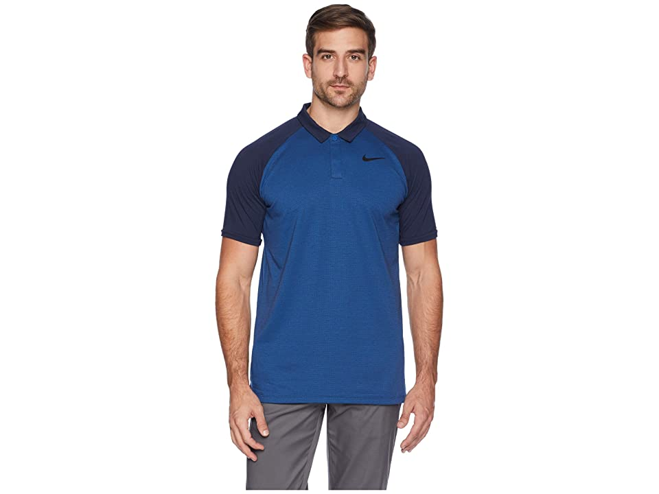 Nike Golf Dry Polo Raglan (Gym Blue/Obsidian/Heather/Black) Men
