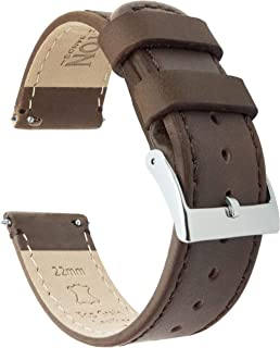 BARTON Watch Bands - Leather Quick Release Watch Strap - Top Grain Leather - Soft Leather Lining - Choice of Color & Width...