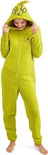 Grinch Women's Licensed Sleepwear Adult Costume Union Suit Pajama (XS-3X)