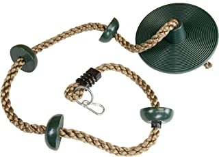 Squirrel Products Climbing Rope with Disc Swing - Green