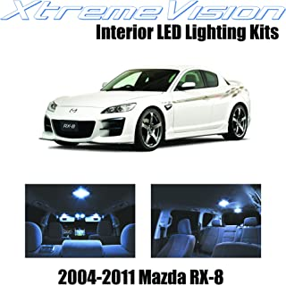 XtremeVision Interior LED for Mazda RX-8 RX8 2004-2014 (5 Pieces) Cool White Interior LED Kit + Installation Tool