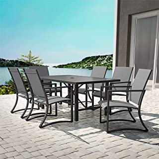 Cosco Outdoor Living 88680LGCE Outdoor Living Dining Set, Charcoal