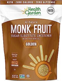 Sponsored Ad - Health Garden Monk Fruit Sweetener, Golden - Non GMO - Gluten Free - Sugar Substitute - Kosher - Keto Frien...