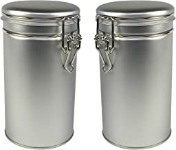 Thistle Moon Steel Loose Leaf Tea and Spice Tin Round with Latch Cover - Set of 2