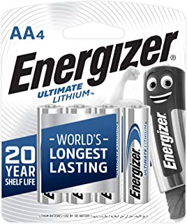 Energizer Ultimate Lithuim L91BP4 AA (Packaging may vary), 4ct