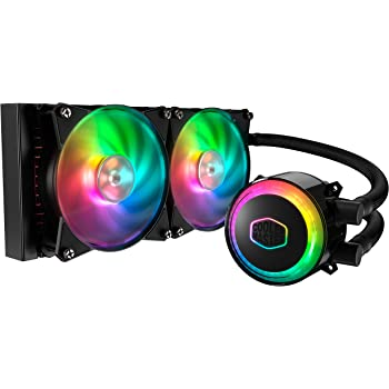 Cooler Master MasterLiquid ML240R RGB CPU Liquid Cooler - ARGB Lighting Sync, Premium Pump Design and Dual MF120R ARGB Fans