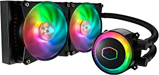 Cooler Master MasterLiquid ML240R RGB CPU Liquid Cooler - ARGB Lighting Sync, Premium Pump Design and Dual MF120R ARGB Fans
