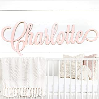 "Personalized Nursery Decor - Custom Wooden Name Sign - 8 sizes available 12""-54"" WIDE - Unpainted or Painted - High Quality Kids Room Decor, Baby Shower Gift - Gender Neutral For Baby Girl or Boy"