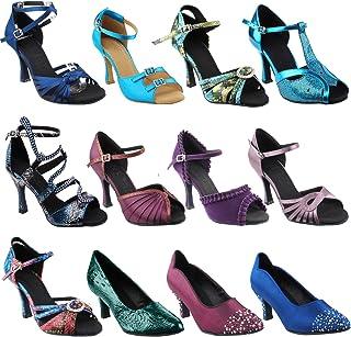 50 Shades Blue & Purple Ballroom Latin Dance Shoes for Women: Ballroom Salsa Wedding Clubing Swing