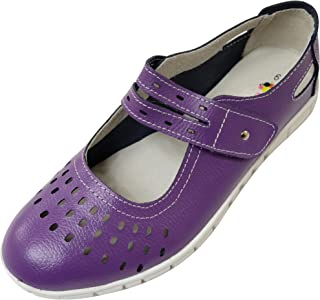 ABSOLUTE FOOTWEAR Womens Leather EEE Wide Fitting Summer/Holiday/Casual Shoes/Sandals