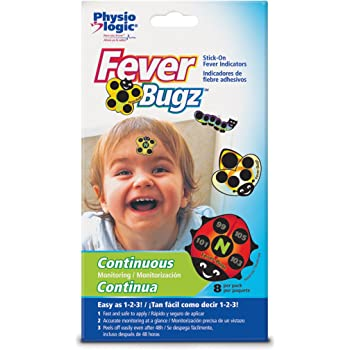 Physio Logic Fever-Bugz Stick-On Fever Indicator 8 count