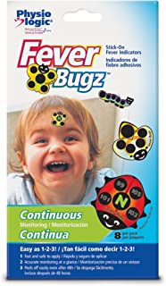 Physio Logic Fever-Bugz Stick-On Fever Indicator 8 count