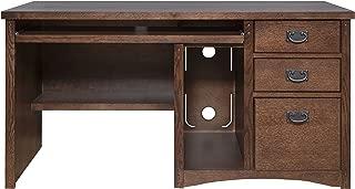 Martin Furniture Mission Pasadena Single Pedestal Computer Desk