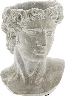 Lucky Winner Greek Statue Head Cement Planter (9