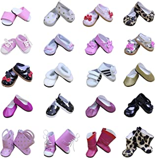 ZITA ELEMENT Doll Shoes 5 Pairs Various Party Shoes for American Girl Doll and other 18 inch Doll Gift
