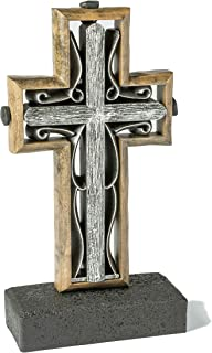 Unity Cross Rustic Collection Hand Scraped Rustic Beech with Burnished Iron Color Center