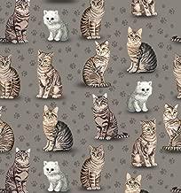 Purrfect Kittens Cats Fleece Fabric - 60