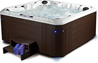 Essential Hot Tubs 100 Jets Calypso Sterling Silver Shell, Brown