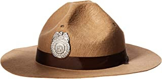 """Fun-Filled Costume Party Sheriff Hat, Brown, Fabric, 13 1/4"""" x 5 1/2"""", 1-Piece"""