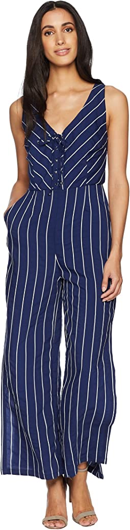 Scout Embroidered Pinstripe Jumpsuit