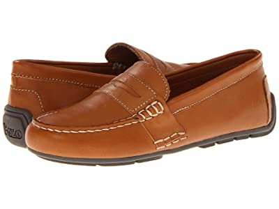 Polo Ralph Lauren Kids Telly (Little Kid) (Tan Burnished Leather) Boys Shoes